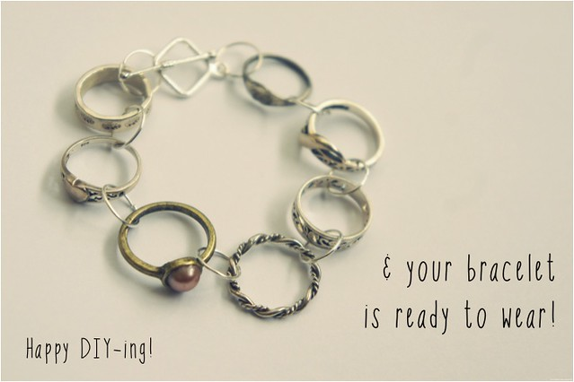 diy bracelet of rings 9