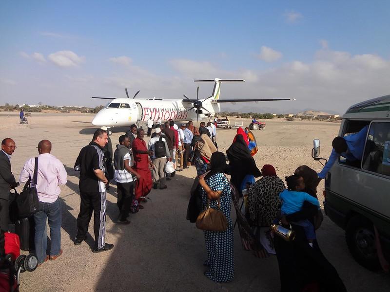 Avião desde Berbera até Addis Ababa na Etiopia