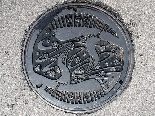 Miyoshi city Hiroshima pref, manhole cover (広島県三次市のマンホール)