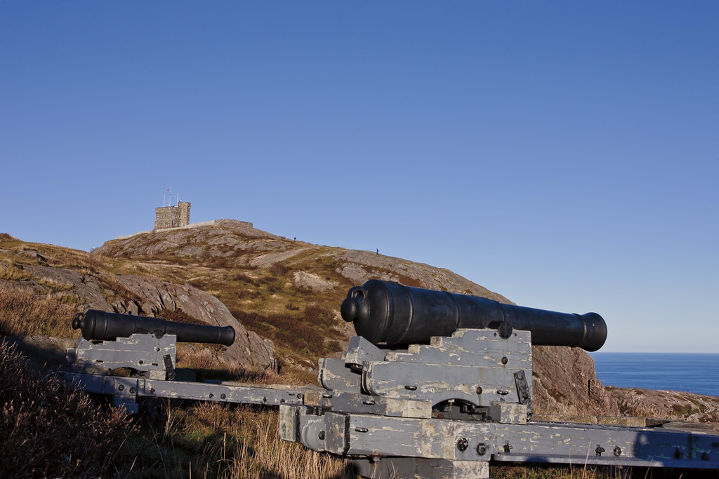 View of Canons and Cabot Tower on Signal Hill
