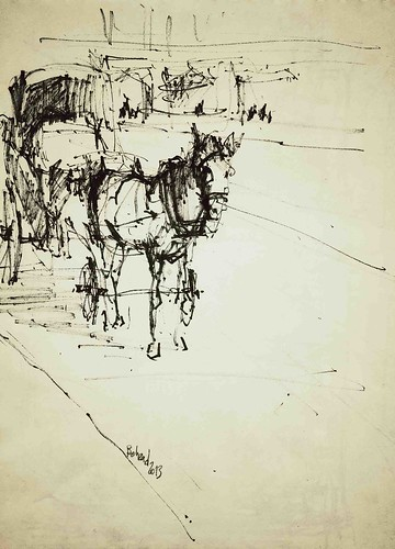 The Horses (3) by Behzad Bagheri Sketches