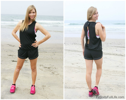 Christina Chitwood Wearing the Ellie Under Your Spell Sports Bra and Peek-a-Boo Tank