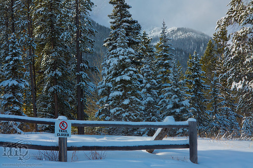 2013-03-04 Canmore AB: Trail Closed [2 of 2]