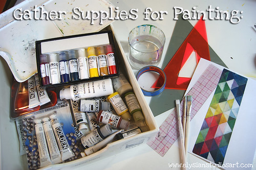 Painting Supplies for Chair