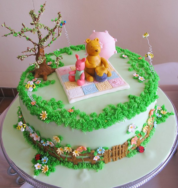 Winnie the Pooh Classic Baby Shower Cake by Country ...