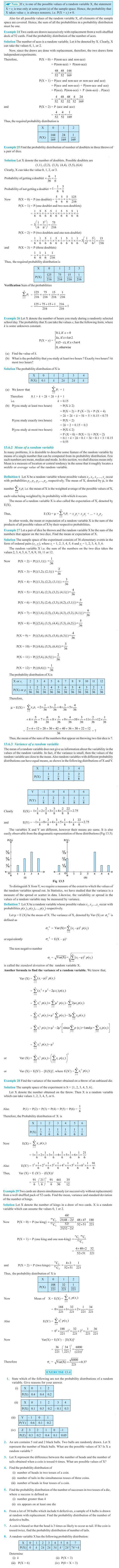 NCERT Class XII Maths Chapter 13 - Probability