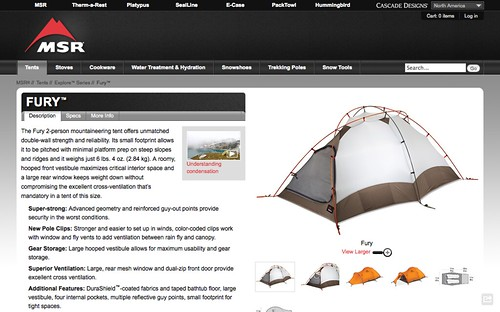 MSR® Fury™ Lightweight Expedition Two-Person 4-seasonTent.