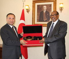 Somaliland President with the Turkish deputy prime minister