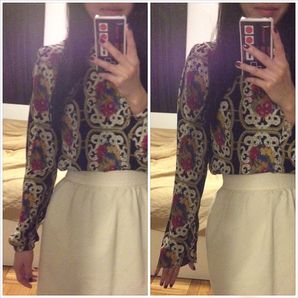 baroque blouse ivory skirt5