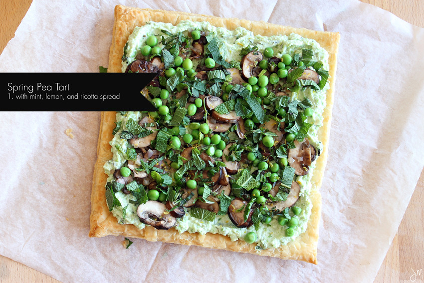 Julip Made pea mint ricotta tart3
