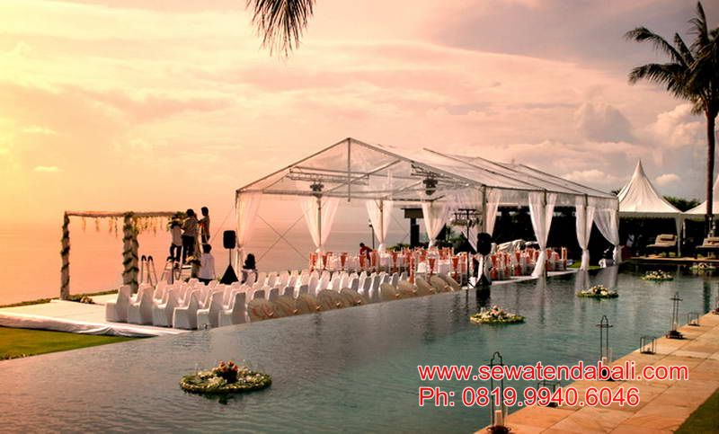 rental transparant tent clear tent in bali
