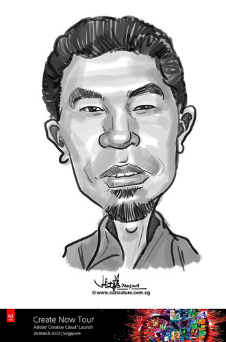 digital caricature for Adobe Create Now Tour - Zosopari