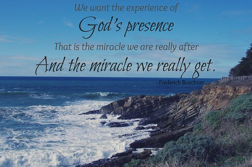 God's presence by Buechner