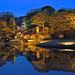 Night time light-up of Japanese garden Rikugien @Komagome, Tokyo
