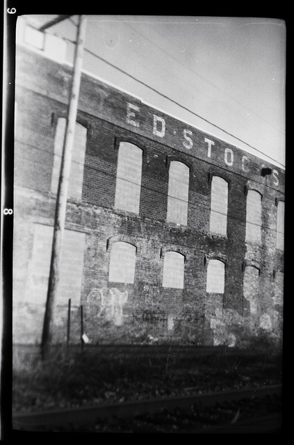 Ghost sign on warehouse 2, Cohoes, N.Y.