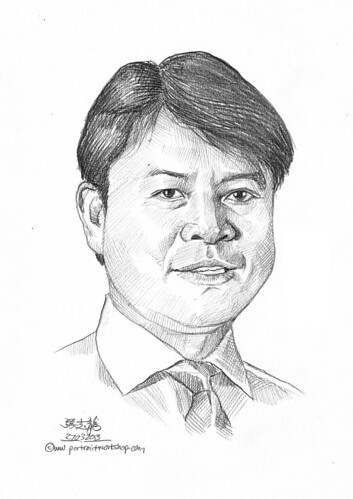 Pencil portrait for Chinese Swimming Club Eric Fong - 29