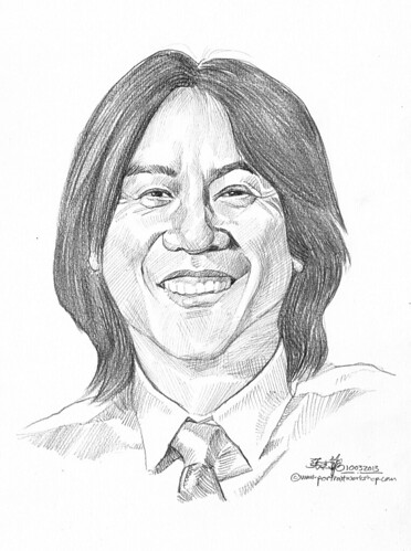 Pencil portrait for Chinese Swimming Club Michael Hoon - 21