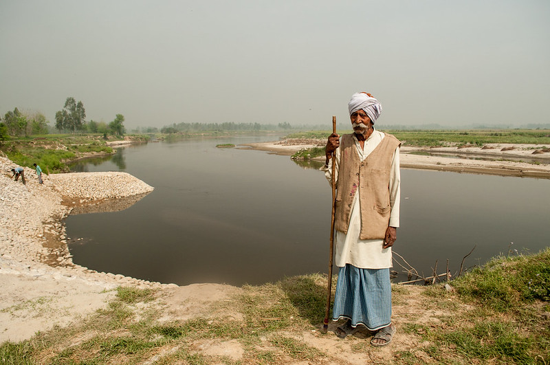 A Villager on the Banks of the river near Moradabad