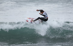 Californian Kanoa Igarashi pulled out plenty of new-school tricks but got knocked out in the semis.