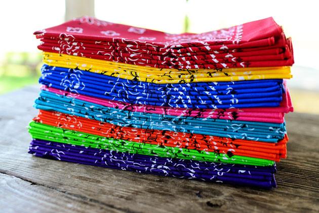 Image result for rainbow bandanas