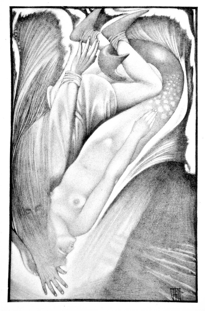 Vernon Hill - Illustration from  Ballads Weird and Wonderful, 1912 (The Mermaid)