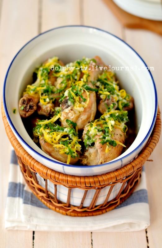 Roast Lemon and Garlic Drumsticks
