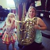"Today was ""brass"" day in Calleigh's music class. #RMC #MusicClass @rmcsd1"