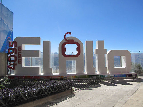 La Paz: en sommet du téléphérique