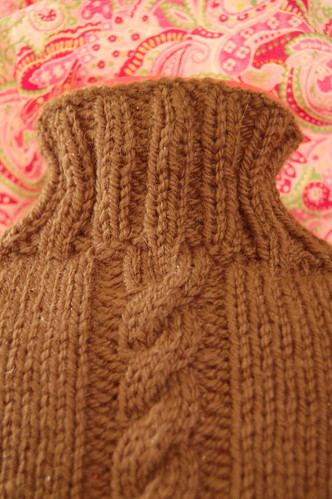 Hot water bottle cosy - closeup