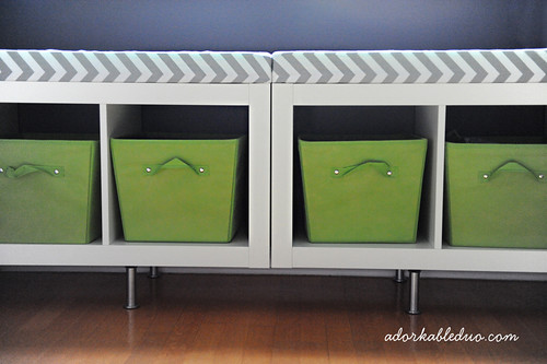 diy toy storage bench for nursery