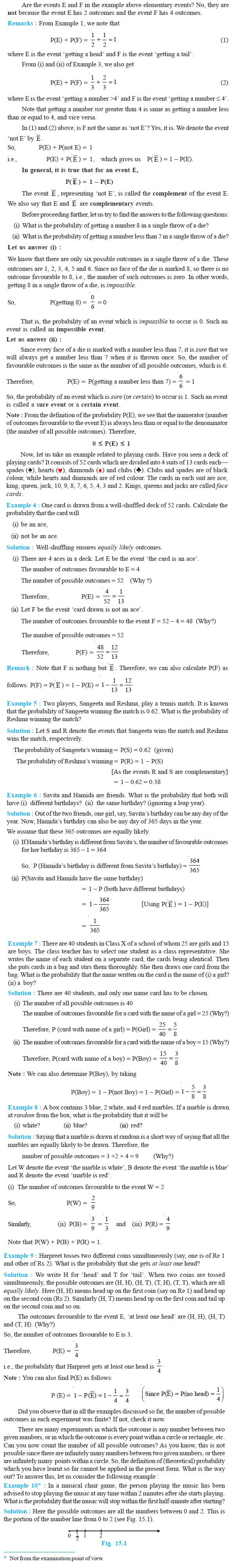 NCERT Class X Maths: Chapter 15 - Probability
