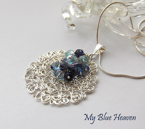 My Blue Heaven Pendant by gemwaithnia