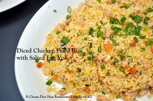 B Diced Chicken Fried Rice with Salted Egg Yok