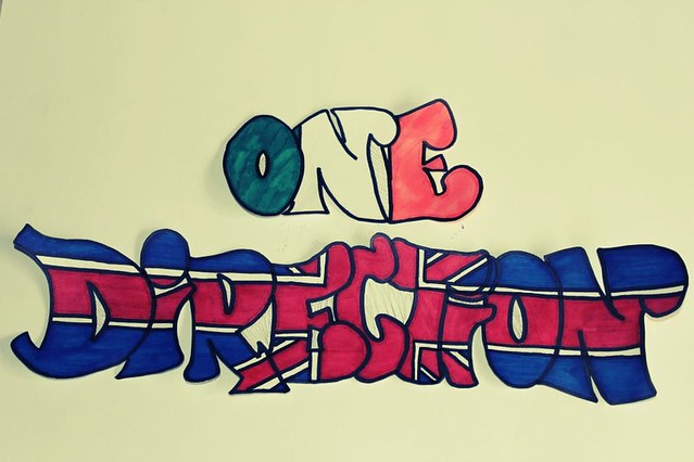 "One Direction ""graffiti"" 