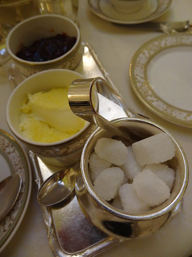 Afternoon Tea at The Ritz, with Rachel: sugar and tongs, clotted cream and strawberry jam
