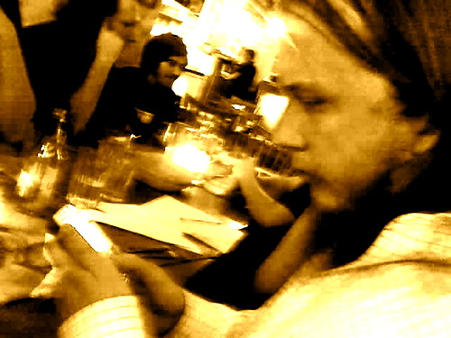 Internet activist dinner in Stockholm, Sweden, Jan 7, 2007