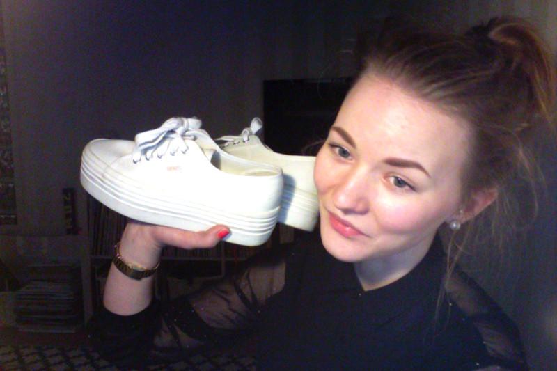 IDA_ flatform sneakers white