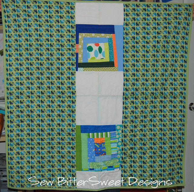Back - Wonky Log Cabin Quilt