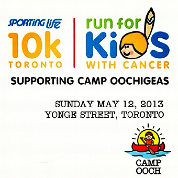 Hey Peeps. I'm running to  raise money to send kids with cancer to camp. Help me here: www.ooch.org/416runstyle  Thanks!