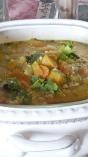 Coloured Millet soup
