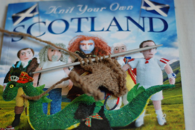 Knit Your Own Scotland highland cow work in progress