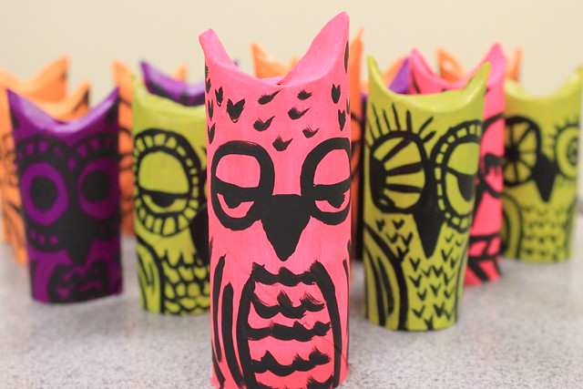 Paper Tube Owls 2