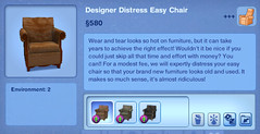 Designer Distress Easy Chair