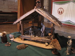 christmas decoration(0.0), nativity scene(0.0), wood(1.0), manger(1.0),