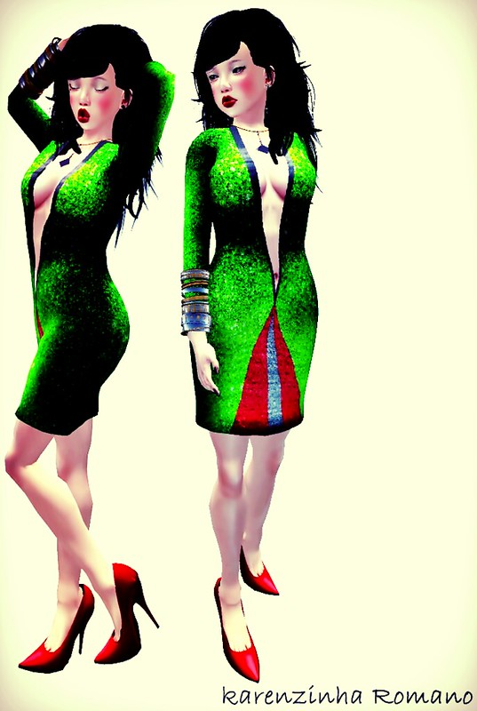 dress ef - Glimmering Triangle Dress - Glittermelon g