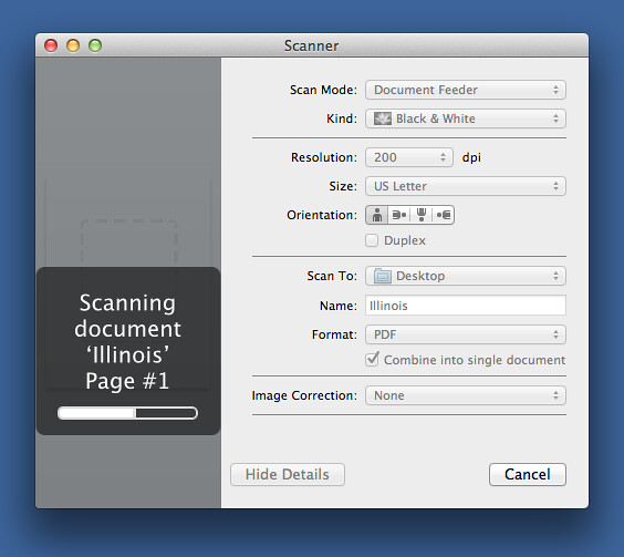 Scanner controls