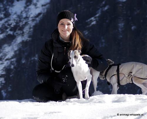 Steffi und ihre Killah beim Whippettreffen Kaunertal