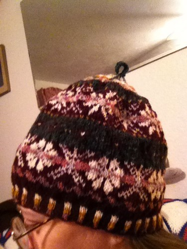 Guernsey Potato Peel hat is done! by BlueDragon2