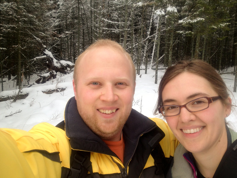 Sara and Patrick snowshoeing