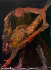 <strong>NIYAZ NAJAFOV | DANCING ON BONES - </strong> Tango<br />Oil on canvas, 130 x 97 cm, 2012